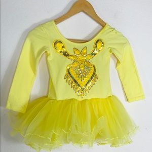 Yellow Tutu Dance Ballet Outfit Costume Size 7/8